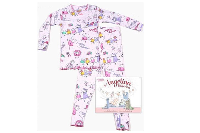 Angelina Ballerina Book and Pajama Set