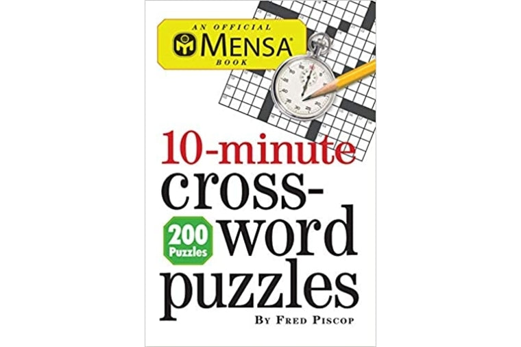 Mensa 10 Minute Crossword Puzzle Book