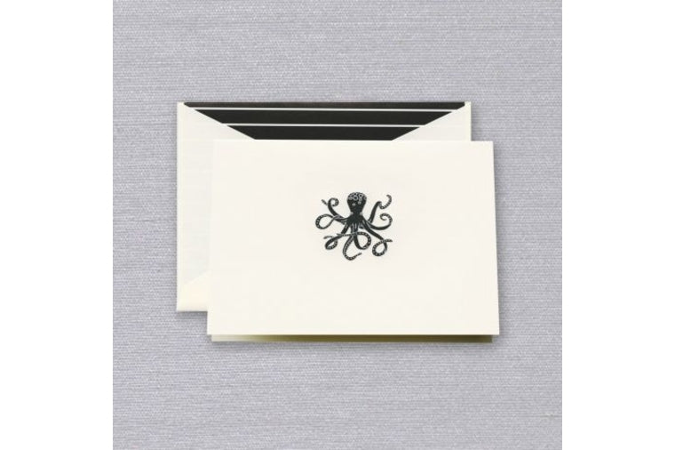 Engraved Octopus Note Cards