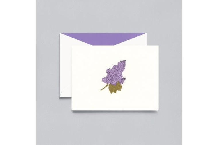 Engraved Lilac Note Cards