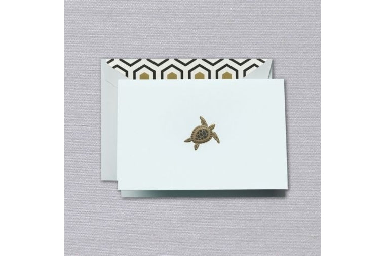 Engraved Sea Turtle Boxed Note Cards