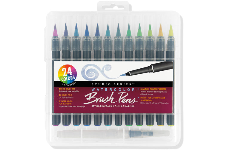 Peter Pauper Press - Studio Series Watercolor Brush Pens, set of 24