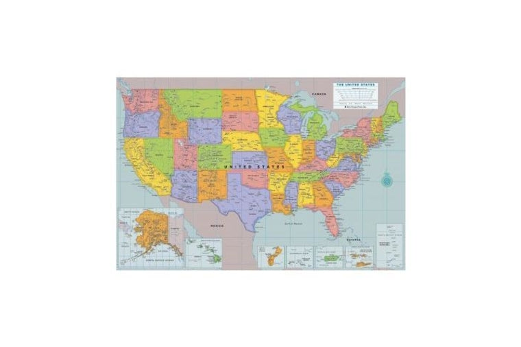 United States of America Repositionable Wall Map