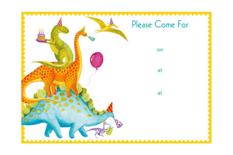 Partysaurus Fill-In Invitation