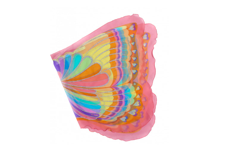 Pink Rainbow Butterfly Wings