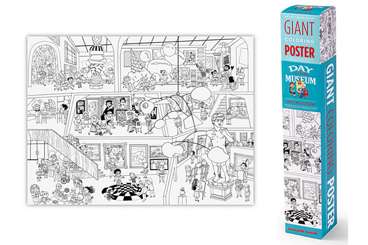 Crocodile Creek - A Day at the Museum Giant Coloring Poster