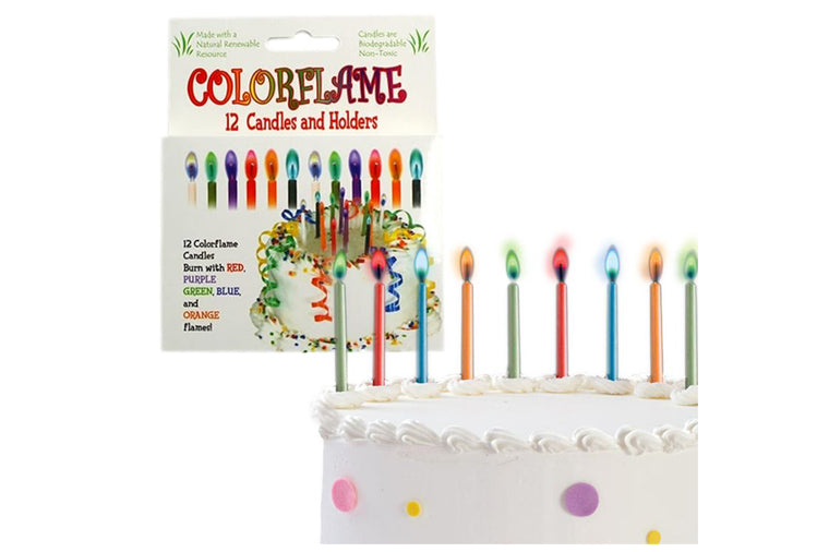 Colorflame Birthday Candles