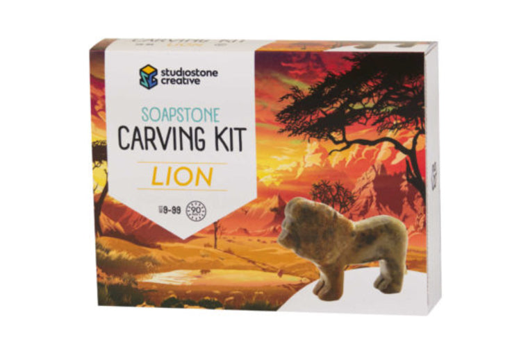 Lion Soapstone Carving Kit