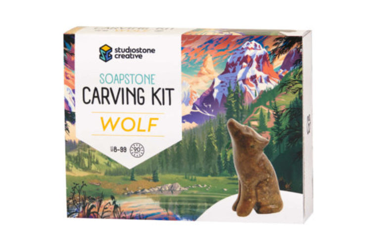 Wolf Soapstone Carving Kit