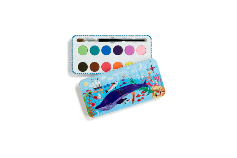 eeBoo - In The Sea Watercolor Tin