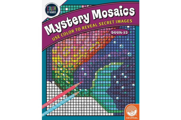 Mystery Mosaics Color by Number Book 15