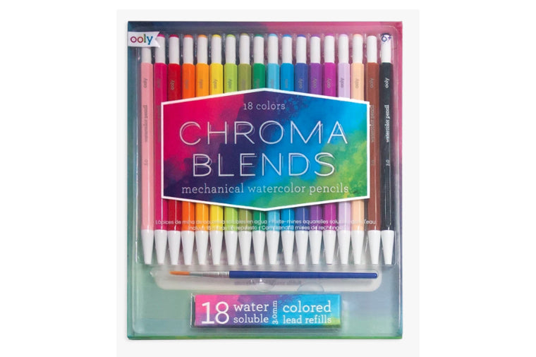 OOLY - Chroma Blends Mechanical Watercolor Pencils, set of 18