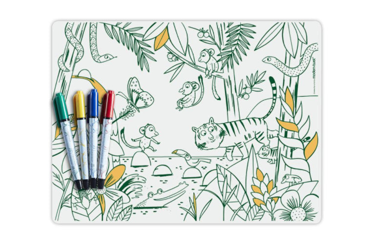 Jungle Mark Mat and Markers