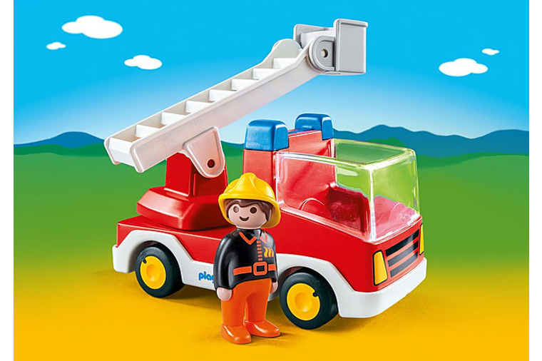 Ladder Unit Fire Truck - Playmobil 1-2-3