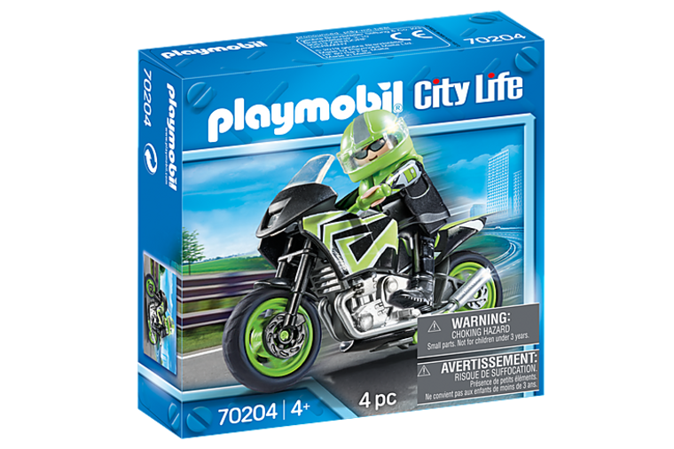 Motorcycle with Rider - Playmobil
