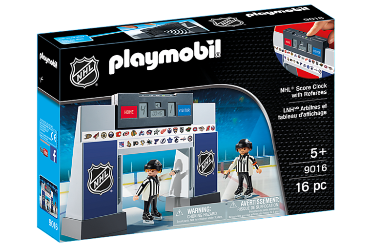 NHL Score Clock with 2 Referees - Playmobil