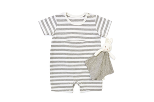 Bunnies By the Bay - Bloom Romper with Binkie 6-9M