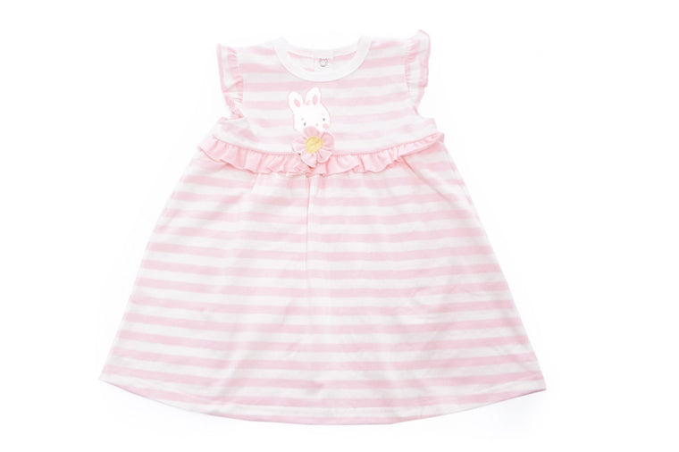Blossom Striped Dress 9-12 months - Bunnies By the Bay