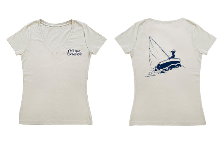 Old Lyme Sailing Fitted T-Shirt (adult)