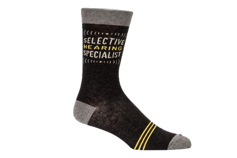 Selective Hearing Men's Socks - Blue Q