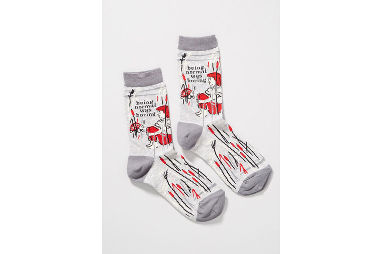 Being Normal Was Boring Socks - Women - Blue Q