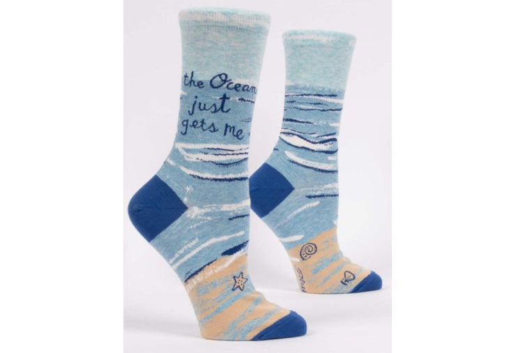 The Ocean Gets Me Socks - Blue Q
