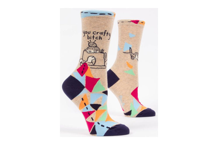 You Crafty B Socks - Blue Q