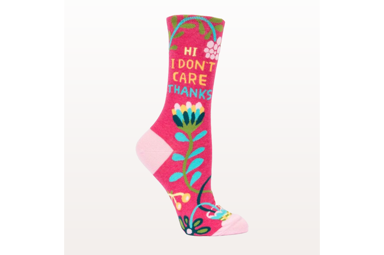 Hi, I Don't Care, Thanks. Socks - Blue Q