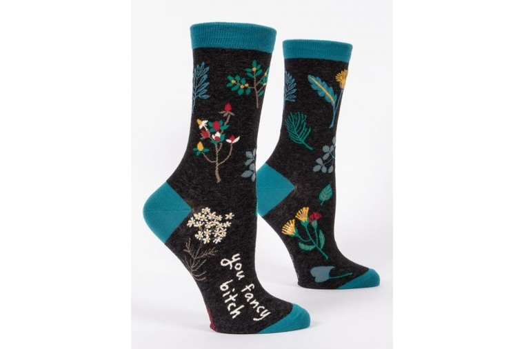 You Fancy B* Socks - Women - Blue Q