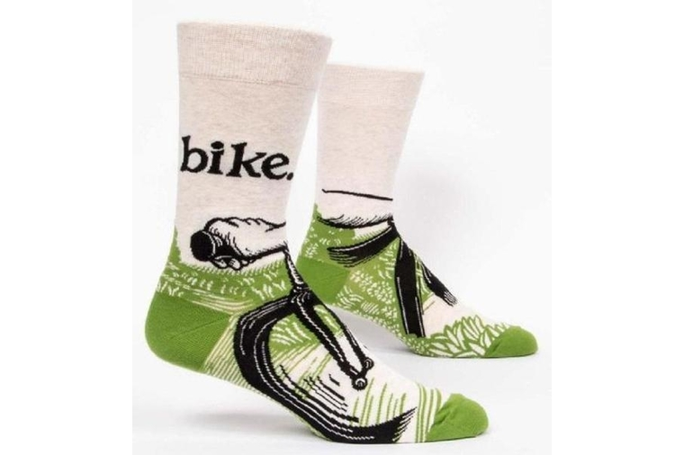 Bike Path Socks - Men - Blue Q