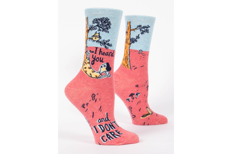 I Heard You But I Don't Care Socks - Women - Blue Q