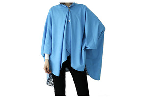 Turquoise Sticks Reversible Rain Cape - Winding River Clothing