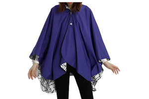 Purple Sticks Reversible Rain Cape - Winding River Clothing
