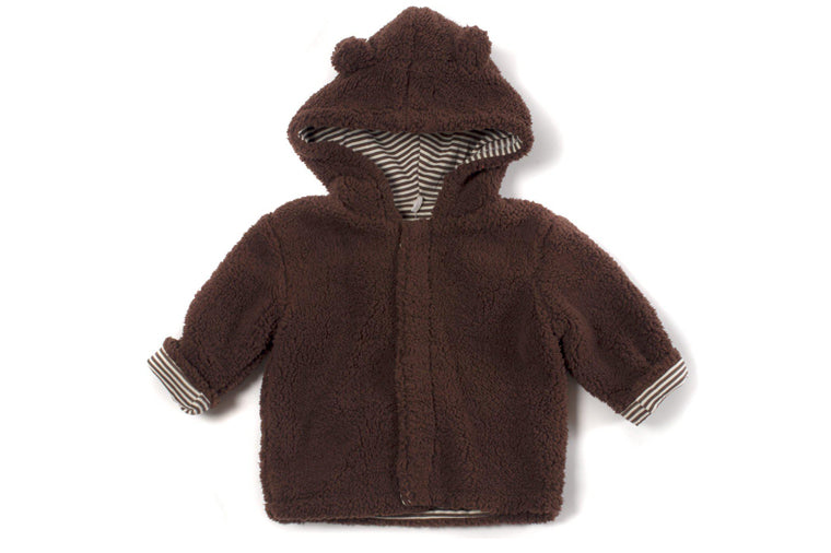 Mocha Fleece Magnetic Jacket