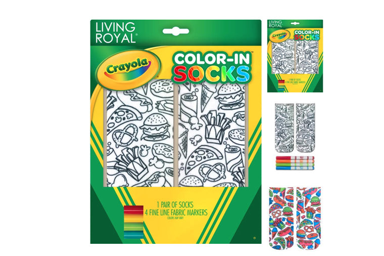 Color-In Snack Attack Socks