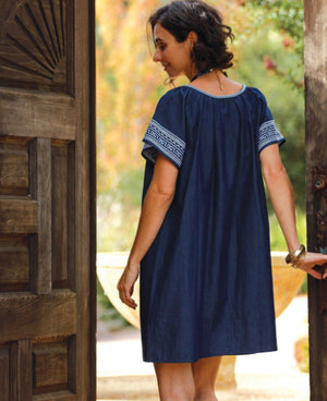 Mavros Navy Denim Dress
