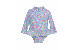 Infant Ruffle Rash Guard Swimsuit UPF 50+