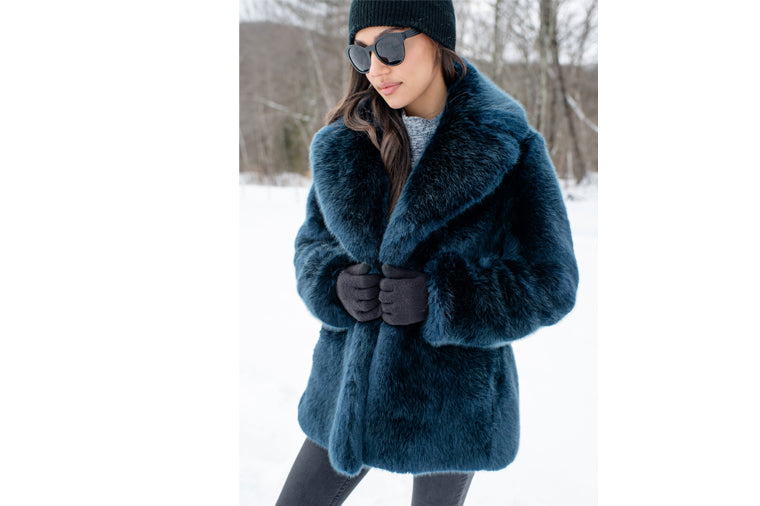 Donna Salyer's Fabulous Furs Mink Coat in Steel Blue