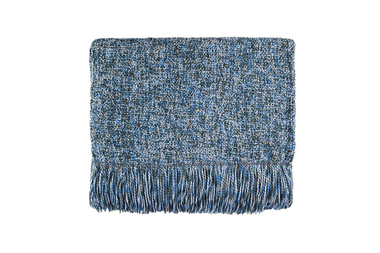 Melange Steel Blue Throw Blanket