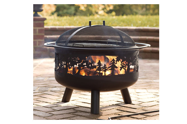 Timberline Wood Burning Metal Fire Pit