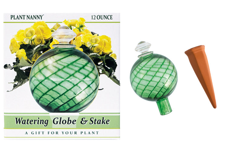 Green Watering Globe and Stake Set