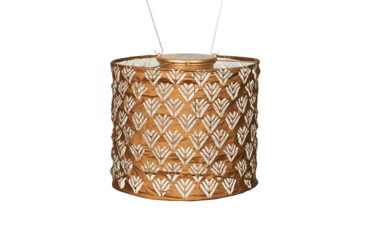 "Stella 8"" Drum Solar Lantern - Copper"