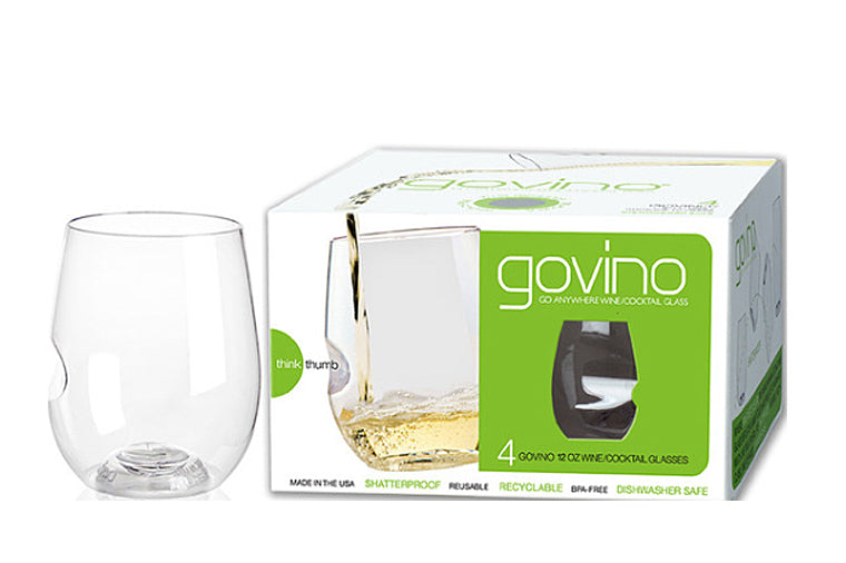 Govino 12 ounce Glasses, set of 4