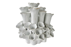 Sea Flowers Vase - White