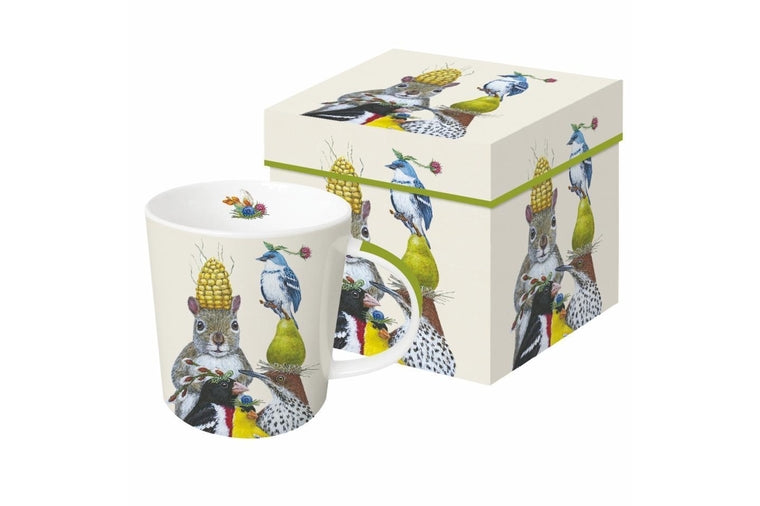 Party Under The Feeder Gift-Boxed Mug  - Vicki Sawyer