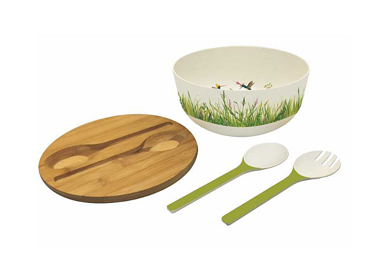 Meadow Buzz Bamboo Salad Bowl