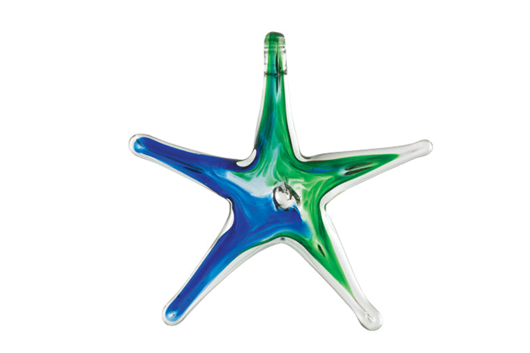 Blue & Green Glass Starfish