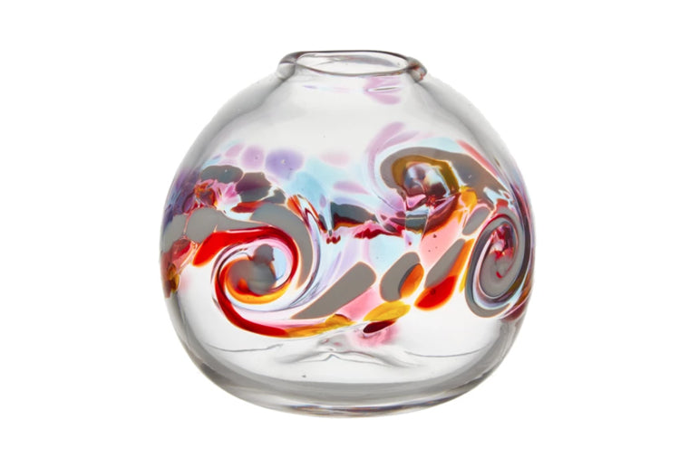 Round Color Wave Vase, Southern Sunset