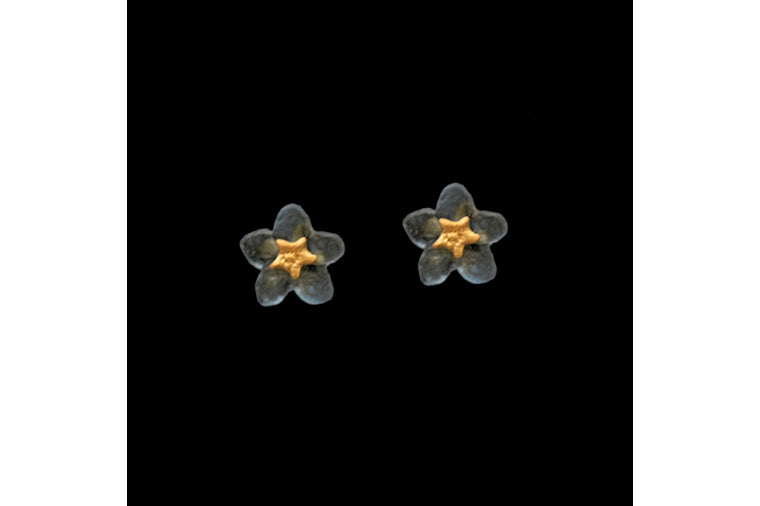 Michael Michaud: Forget Me Not Flower Post Earrings