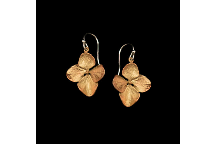 Hydrangea Petal Wire Earrings
